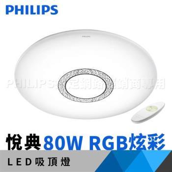 飛利浦 吸頂燈 Philips 悅典 LED 調光調色吸頂燈 80W 61349(RGB炫彩版)