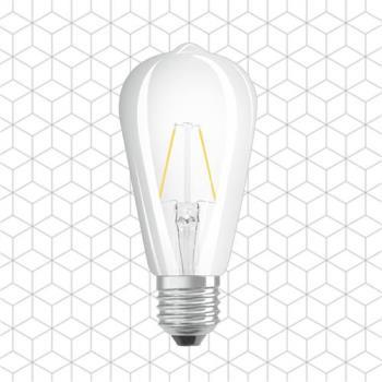 順合光電  全電壓 ST64 6W E27 LED復古鎢絲艾迪燈泡 黃光 ( 2入 )
