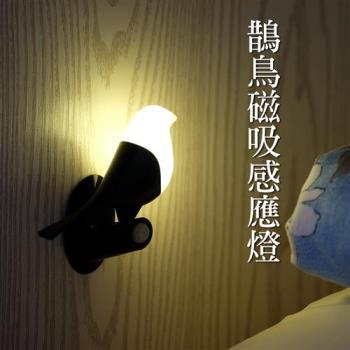 鵲鳥智能感應燈 小鳥觸控小夜燈 光控/人體雙重感應 USB磁吸充電 裝飾燈 造型燈
