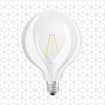 順合光電  全電壓 G95 W269 6W E27 LED復古鎢絲圓形艾迪燈泡 黃光 ( 2入 )