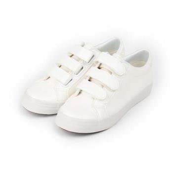 老船長 三魔鬼氈休閒鞋 白 女鞋 鞋全家福
