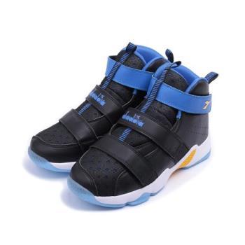 DIADORA 高筒魔鬼氈籃球鞋 黑藍 DA8AKB6106 大童鞋 鞋全家福