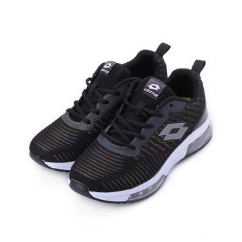 LOTTO 氣墊反光運動鞋 黑 LT8AKR6530 大童鞋 鞋全家福