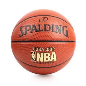 SPALDING NBA DURA GRIP I/O SZ7合成皮籃球-7號球 斯伯丁 橘金