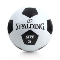 SPALDING 足球-5號球 戶外 訓練 斯伯丁 黑白