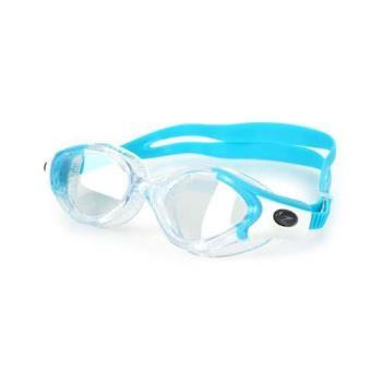 SPEEDO FUTURA BIOFUSE 女成人運動泳鏡-游泳 蛙鏡 訓練 戲水 透明水藍
