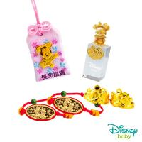 Disney迪士尼系列金飾 彌月金飾御守/印章套組木盒-聰明美妮款-美妮造型印章 0.33錢