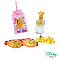 Disney迪士尼系列金飾 彌月金飾御守/印章套組木盒-聰明美妮款-美妮造型印章 0.53錢