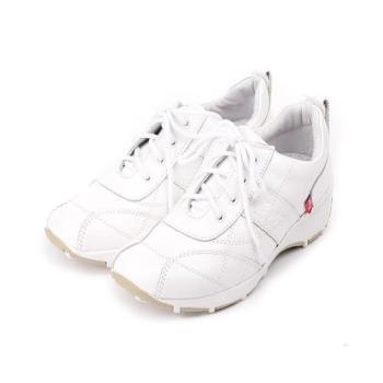 ZOBR 牛皮綁帶休閒鞋 白 女鞋 鞋全家福