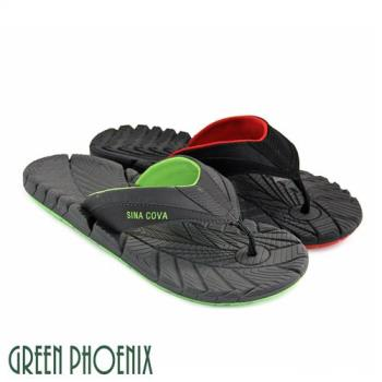 GREEN PHOENIX 撞色夾腳拖鞋(男鞋)T33-18298
