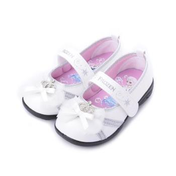 冰雪奇緣 緞帶蝴蝶公主鞋 白 FOKP84709 中小童鞋 鞋全家福