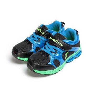 GOODYEAR 緩震彈力弓運動鞋 黑藍 GAKR78600 中大童鞋 鞋全家福