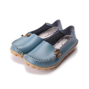 真皮兩穿包鞋 藍 大童鞋 鞋全家福