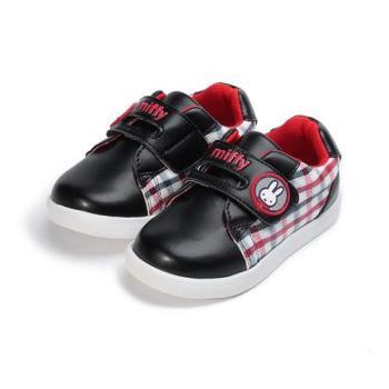 MIFFY 英倫格紋休閒鞋 黑 中小童鞋 鞋全家福