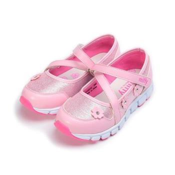 MIFFY 小花輕量休閒鞋 粉 中大童鞋 鞋全家福