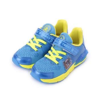 機器戰士 底燈輕量休閒鞋 藍 TOKX76356 中童鞋 鞋全家福