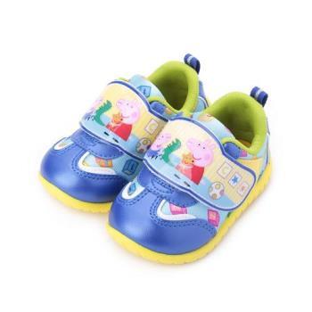 佩佩豬 魔鬼氈休閒鞋 藍 PG8552 中小童鞋 鞋全家福
