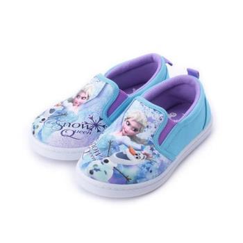冰雪奇緣 套式懶人帆布鞋 水藍 FOKP84726 中小童鞋 鞋全家福