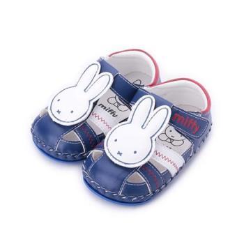 MIFFY 米飛兔縫線寶寶涼鞋 藍 小童鞋 鞋全家福