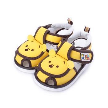 DISNEY 維尼熊護趾寶寶涼鞋 黃 小童鞋 鞋全家福