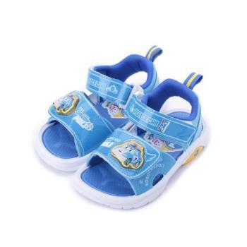 救援小英雄 POLI波力電燈涼鞋 藍 POKT81126 中小童鞋 鞋全家福