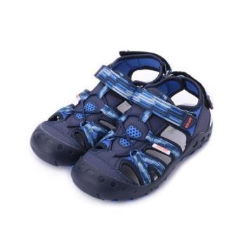 RED ANT 束繩護趾魔鬼氈涼鞋 藍 中小童鞋 鞋全家福
