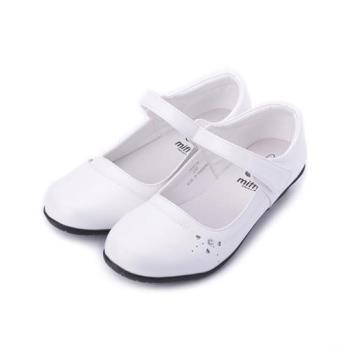 MIFFY 米飛兔側鑽公主鞋 白 大童鞋 鞋全家福
