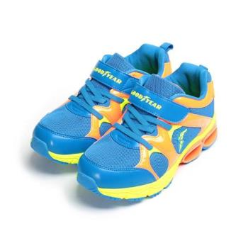 GOODYEAR 緩震彈力弓運動鞋 藍橘 GAKR78606 中大童鞋 鞋全家福