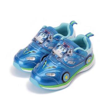 救援小英雄 波力POLI輕量前燈運動鞋 藍 POKX71256 中小童鞋 鞋全家福