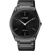 【CITIZEN 星辰】放射線型時尚男錶-寂靜黑(AR3079-85E)