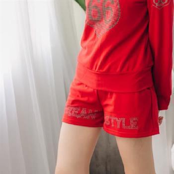 【JimmyWang】女生紅色短褲-,