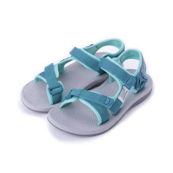 LOTTO 素面織帶涼鞋 孔雀藍 LT8AWS6165 女鞋 鞋全家福