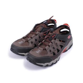 LOTTO 排水水陸運動涼鞋 咖啡 LT8AMW6073 男鞋 鞋全家福