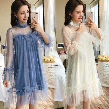 韓國KW    可愛性感小心機網紗洋裝