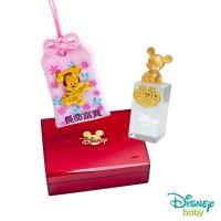Disney迪士尼系列金飾 彌月金飾御守/印章套組木盒-聰明美妮款-米奇造型印章 0.13錢