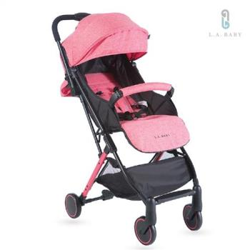 【L.A. Baby】城市輕旅嬰兒手推車(珊瑚紅)