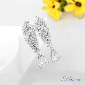DINA JEWELRY蒂娜珠寶 皇家花園 CZ鑽石耳環 (TM61452)
