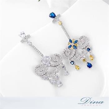 DINA JEWELRY蒂娜珠寶 絕色美女垂墜 CZ鑽石耳環 (TM61847)