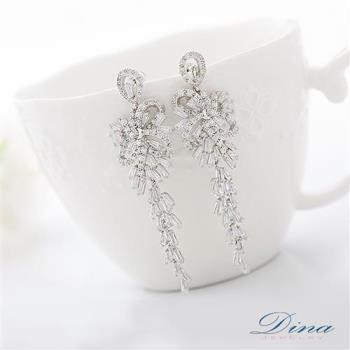DINA JEWELRY蒂娜珠寶 歡樂節慶 CZ鑽石耳環 (TM61917)