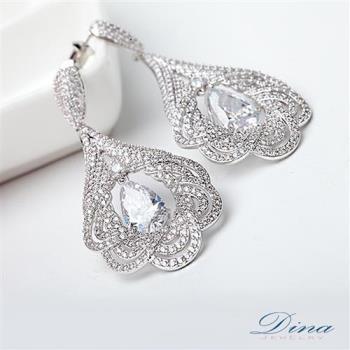 DINA JEWELRY蒂娜珠寶 古典宮廷風 CZ鑽石耳環 (TM62543)