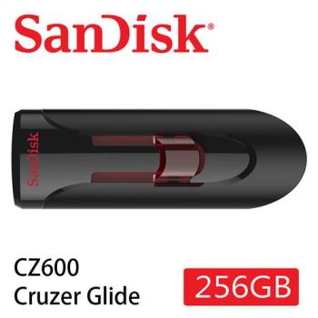 SanDisk CZ600  Cruzer Glide 3.0 USB 隨身碟 ( 256G/伸縮碟/紅滑蓋) [公司貨]