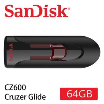 SanDisk CZ600  Cruzer Glide 3.0 USB 隨身碟 ( 64G/伸縮碟/紅滑蓋) [公司貨]