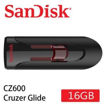 SanDisk CZ600  Cruzer Glide 3.0 USB 隨身碟 ( 16G/伸縮碟/紅滑蓋) [公司貨]