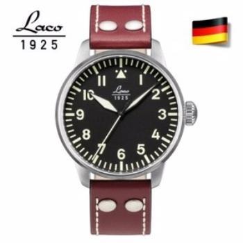 【LACO朗坤】861688 飛行員系列 德國手錶 男士自動機械錶 黑/42MM
