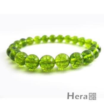 【Hera】頂級晶透橄欖石手珠(10mm)