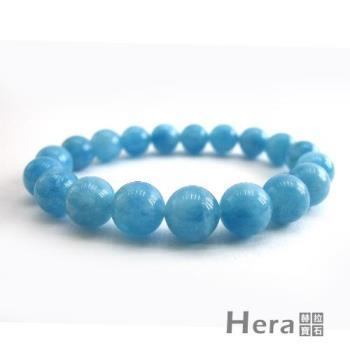 【Hera】頂級冰沁海水藍寶手珠(10mm)