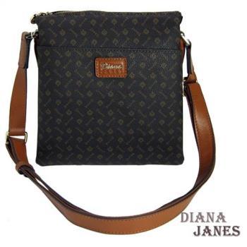 包包Diana Janes 黛安娜-晶鑽 LOGO多層斜揹包