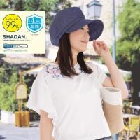 日本sunfamily  降溫涼感抗UV帥氣小顏防曬帽(藍色)