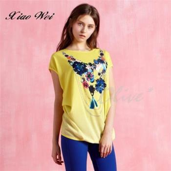 CHENG DA 春夏專櫃精品女裝時尚短袖寬版上衣 NO.686816
