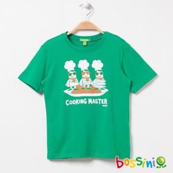 bossini男童-印花短袖T恤03黃綠